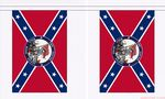 THE SOUTH WILL RISE AGAIN CONFEDERATE BUNTING - 9 METRES 30 FLAGS